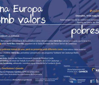 """Gambús: """"Una Europa amb valors"""" - jornada pobresa"""