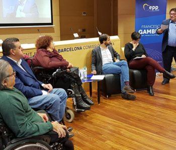 20171117 Gambus - jornada valors UE i discapacitat - Guillén, Solé, Riu, Segura i Pelay