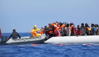 SAR by Belgian vessel Godetia, Operation Triton