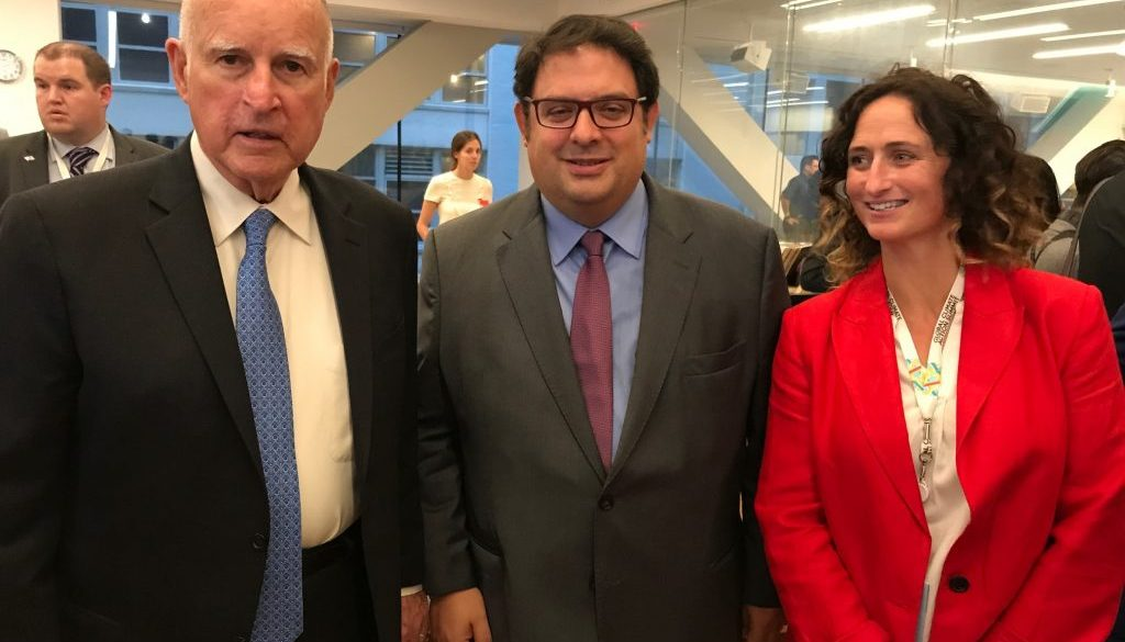 Cimera Accio Climatica - governador California, Jerry Brown, Gambus i Lynn Boylan