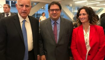 Cimera Accio Climatica - governador California, Jerry Brown, Gambus i Lynn Boylan